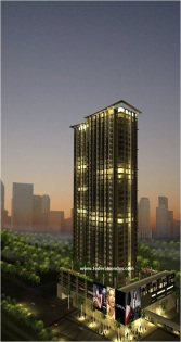Building facade of Park West at Grand Hyatt, a new Federal Land condominium project in The Fort Bonifacio Global City