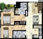 2br - 55 sqm with skygarden