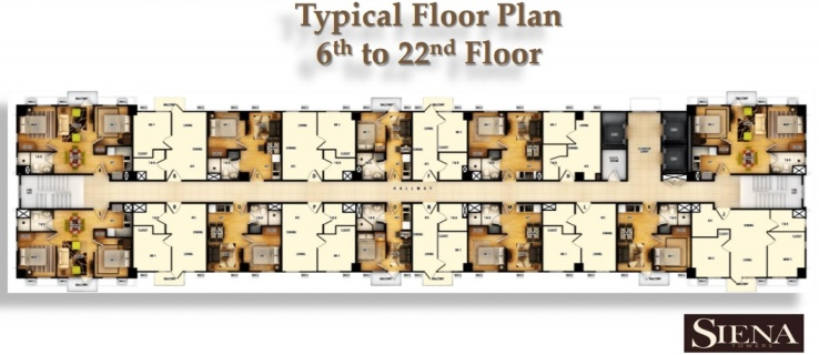 typical floor plan - 6th to 22nd floor